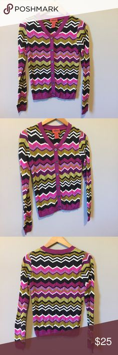 Missoni for Target cardigan Excellent pre-owned condition • multi-colored chevron stripes • button front • smoke-free home Missoni for Target Sweaters Cardigans