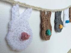 Spring Bunny Garland Easter Rabbit Bunting  Bunny by PloversNest