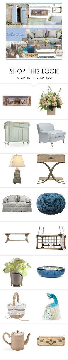 """Home decor 046: Bella Casa"" by tracey-mason ❤ liked on Polyvore featuring interior, interiors, interior design, home, home decor, interior decorating, Eichholtz, Allstate Floral, Crate and Barrel and OKA"