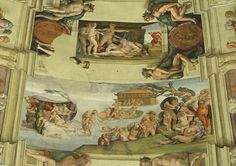 Sistine Chapel Ceiling - The Great flood
