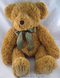 "Harrods Bear Knightsbridge Light Brown Stuffed Plush England London 18"" UK  $249.99"