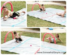 Water Knee Hockey Rink - if only I had a flat yard, my kids would LOVE this!