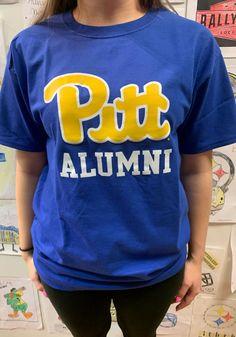 Champion Pitt Panthers Blue Alumni Short Sleeve T Shirt - 14753960 Pitt Panthers, Short Sleeve Tee, Champion, Shoulder Taping, Heat Transfer, Tees, Pittsburgh, Sleeves, Pride