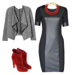 Black & Red by tubino-skirts-dresses on http://tubino.nl/shop/kokerjurken/coco-black-dress-2/ featuring mode, Rebecca Taylor, Christian Louboutin, black, dress, tailored and leatherlook