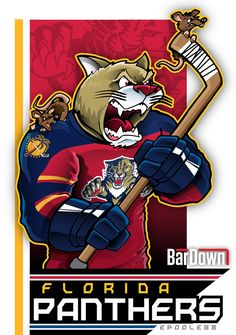Our good friend #EPoole88 (Eric Poole) is getting ready for the upcoming season with cartoon renderings of each team. This is the Florida Panthers. #TSN #BarDown