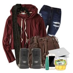 """""""In class bored .."""" by beautyuniqueblossoms ❤ liked on Polyvore featuring American Eagle Outfitters, Rebecca Minkoff, UGG Australia, Squair and S'well"""