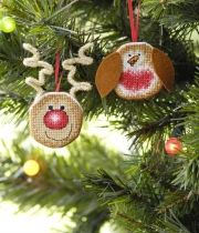 My cute Christmas tree decorations as seen on TheMakingSpot