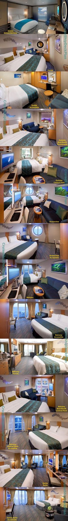 🌎🌏🎈 Get a cruise for half price or even for free!💟 Real deal!🚢 Watch the video in the profile for more details.🚤 Royal Caribbean Allure of the Seas cabins photos