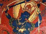 Tibet Guge 09 Tsaparang Demchog Temple 03 Blue Mahakala