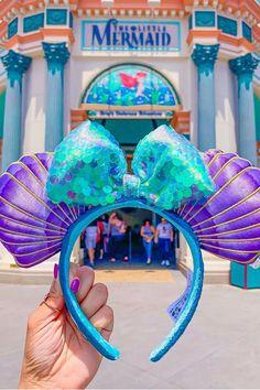Yep, Disney's Little Mermaid Minnie Ears Are Here to Be Part of Your World - Yep, Walt Disney's Little Mermaid Minnie Ears Are Here to Be Part of Your World La meilleure image - Disney Diy, Diy Disney Ears, Disney Crafts, Cute Disney, Disney Hotels, Disney World Resorts, Walt Disney World, Disney Parks, Little Mermaid Minnie Ears