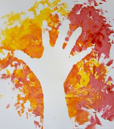 Fall Hand Print Art – Exploring Negative Space with…