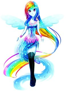 Humanoid Rainbow dash Though the dress could be a bit longer, she looks awesome !