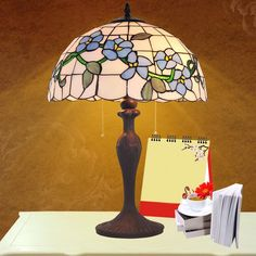 BYB Vintage Tiffany Style Floral Iljimae Table Desk Lamp Hand Crafted
