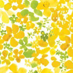 Masha D yans - Bloom - Watercolor Flowers in Yellow