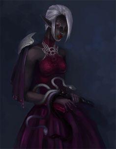 fantasy art drow | Drow by *kriolin on deviantART