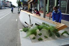 parklet, san francisco, public space, shipwreck, ritual coffee, mission, valencia, public space, boor bridges