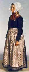 Various folk dresses of Denmark