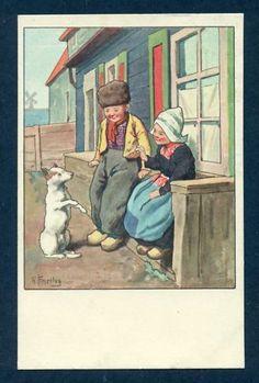 Postcard♥ Dutch Children