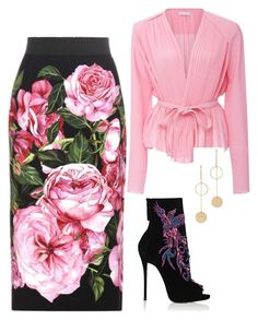 """Untitled #176"" by tunnufn on Polyvore featuring Dolce&Gabbana, Carven, Cloverpost and Giuseppe Zanotti"