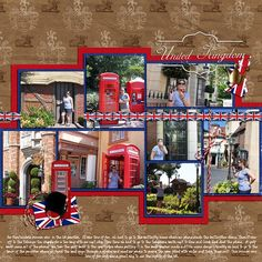 United Kingdom ~cute way to frame around the pictures, only use French colors~