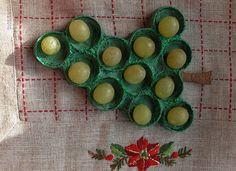 Decoración navideña: recipiente para las uvas