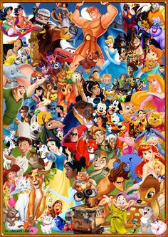 Collage of disney animated characters pictures to pin on pin. Disney Animation, Disney Pixar, Disney Cartoon Characters, Film Disney, Disney Cartoons, Disney Art, Disney Movies, Animation Movies, Punk Disney