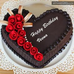 Chocolate Yummy Happy Birthday Cake Name Edit Photos