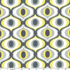 Feeling Groovy in Citron by Michael Miller // for yellow & gray