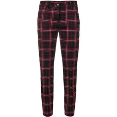 Cambio plaid cropped trousers (€115) ❤ liked on Polyvore featuring pants, bottoms, jeans, trousers, pants and shorts, black, cambio pants, cropped trousers, plaid trousers and tartan plaid pants