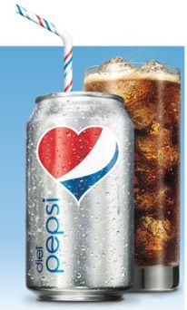 Diet Pepsi just the way I love it ... with lots and lots of ice!