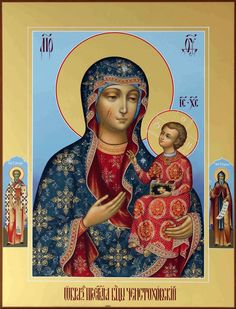 Our Lady of Czestochowa Religious Images, Religious Icons, Religious Art, Blessed Mother Mary, Divine Mother, Madonna, Our Lady Of Czestochowa, Russian Icons, Religious Paintings