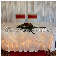 #Wedding #decor #starlight #twinkle #ceremony #table #skirt #backdrop