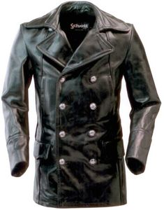 Double-Breasted Leather Jacket | Double-Breasted Pea Coat Men's