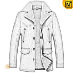 CWMALLS® Men's Vintage Sheepskin Car coat CW807156  Shop men's sheepskin car coat made of Australian natural sheepskin shearling, CWMALLS offer custom and taior for this vintage sheepskin jacket featuring real leather button, flap pockets, chest pockets and  exposed shearling notched collar keeping you insulated on the chilliest of days.  www.cwmalls.com  Email: sales@cwmalls.com