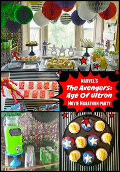 Celebrating the release of MARVEL Avengers: Age of Ultron with a Movie Marathon Party #AvengersUnite #ad