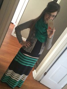 Chunky scarf and maxi, Modern Modesty