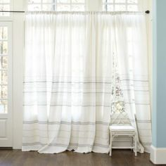 Madeline Striped Linen Panel | Ballard Designs