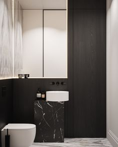 Apartment in Copenhagen on Behance Washroom Design, Kitchen Room Design, Modern Interior, Interior Design, White Subway Tiles, Black Bath, Modern Barn, Bars For Home, Deco