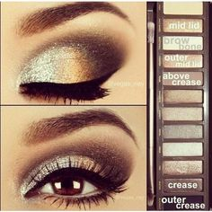 Gorgeous eyes using the UD Naked palette ❤ liked on Polyvore featuring makeup, eyes, beauty, eye makeup and eyeshadow