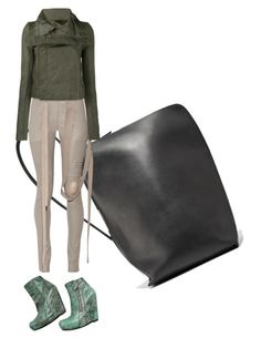 """""""military chick outfit"""" by kohlanndesigns ❤ liked on Polyvore featuring Rick Owens"""