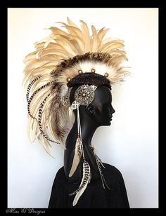 MADE TO ORDER Midsize Feather Mohawk with by MissGDesignsShop, $425.00
