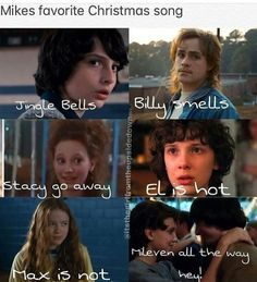 I'mma sing this @ Christmas time!!!XD Stranger Things Stuff, Stranger Things Christmas, Stranger Things Netflix, Strangers Things, Jingle Bells, Millie Bobby Brown, Songs To Sing, Saints Memes, Christmas Time