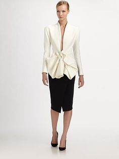 Donna Karan Couture Bow Jacket