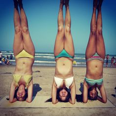 Headstands on the beach!