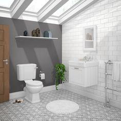 SHOP the Chatsworth Grey Cloakroom Suite (Wall Hung Vanity Unit + Close Coupled Toilet) at Victorian Plumbing UK Grey Vanity Unit, Blue Vanity, Bathroom Vanity Units, Wall Hung Vanity, Bathroom Furniture, Modern Bathroom, Small Bathroom, Bathroom Ideas, Bathroom Wall