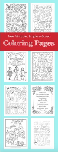 Beautiful, free, printable, hand-drawn, Bible-based adult coloring pages, in both English and Spanish -- plus lots of other resources for teaching and organization