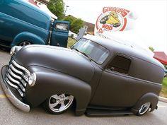 1952 Chevy Suburban Panel Truck (Looks just like the 2007 Chevy HHR, right? Gmc Trucks, Cool Trucks, Chevrolet Trucks, Cool Cars, Station Wagon, Custom Trucks, Custom Cars, Classic Chevy Trucks, Classic Cars