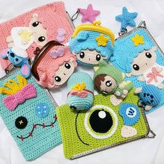 How to for Absolute - Crochet Sandales Crochet Wallet, Crochet Case, Crochet Coin Purse, Crochet Headband Pattern, Crochet Purses, Love Crochet, Crochet Dolls, Free Cliparts, Amigurumi Patterns
