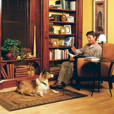 Learn how to use inexpensive materials like birch plywood and standard trim to build a classic, built in bookshelves that are made of wood.