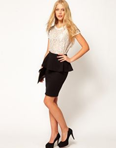 love the peplin skirt & top